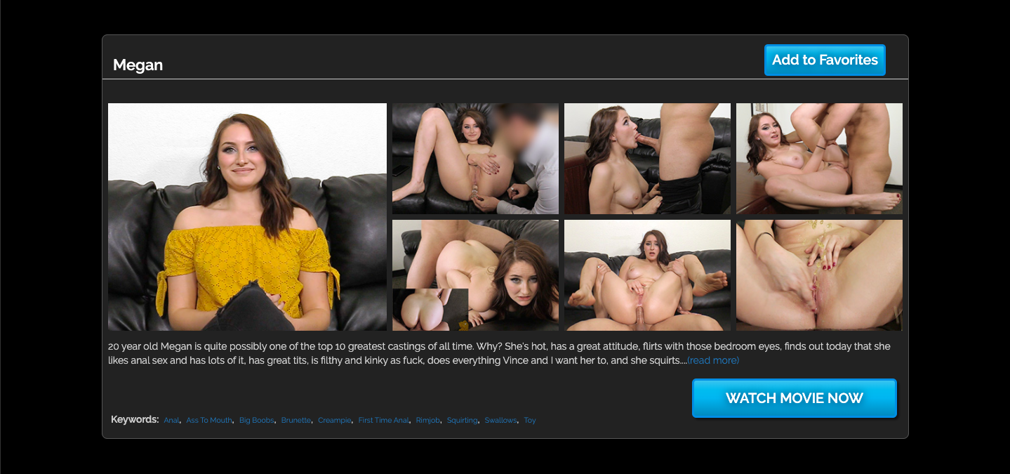 Backroom Casting Couch casting