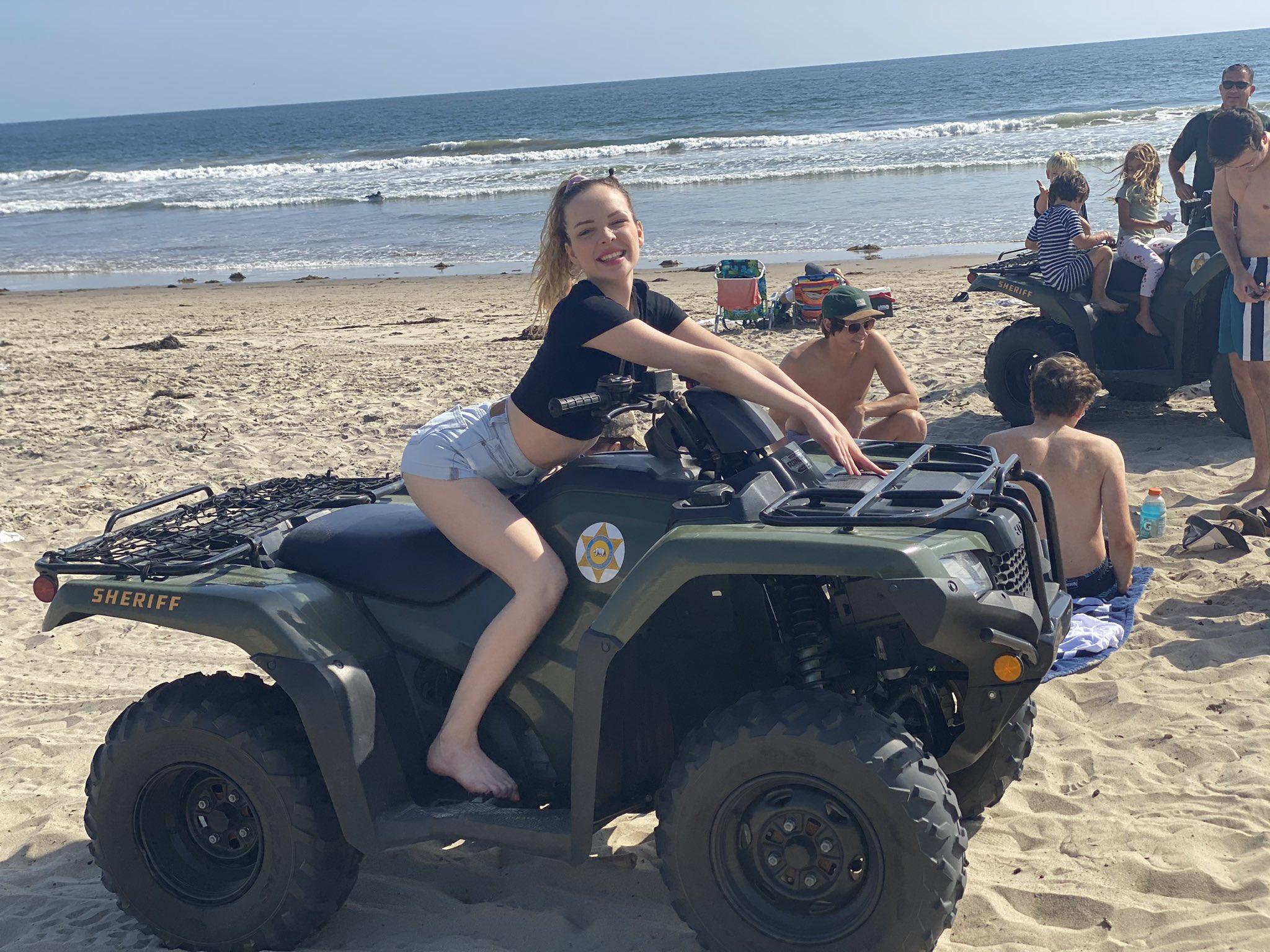 Aliya Brynn at the beach
