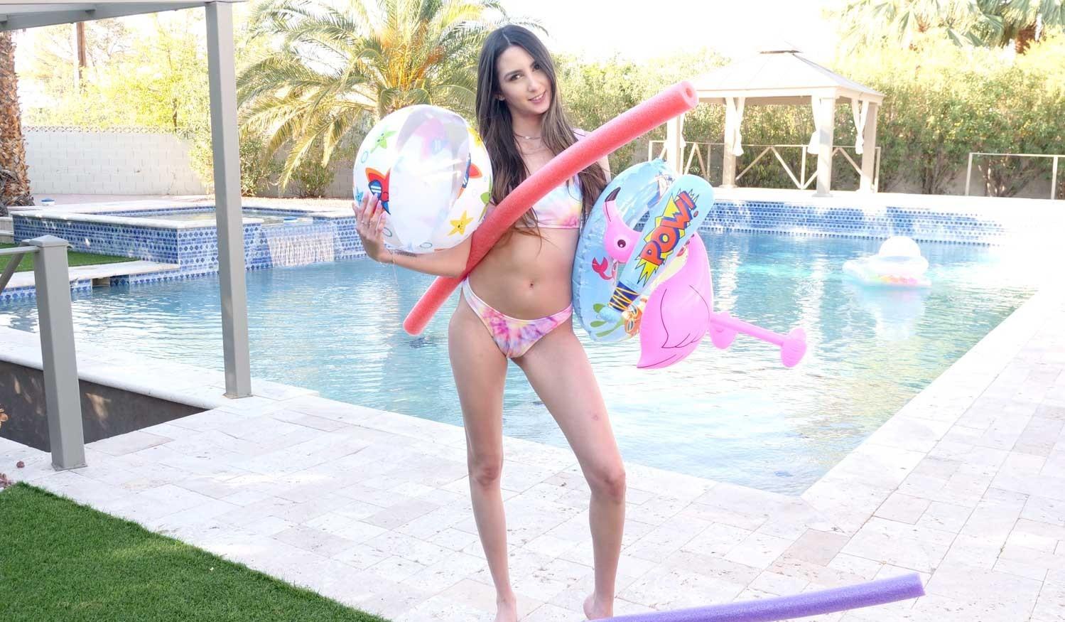 Natalia Nix by the pool