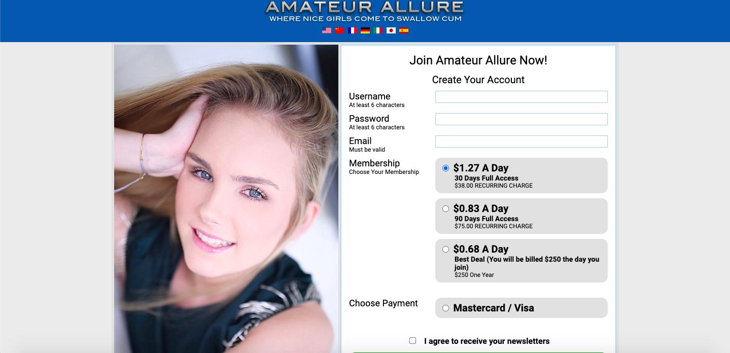 amateur allure sign up