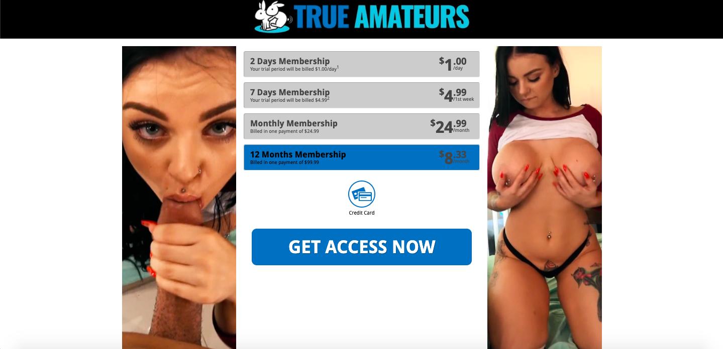 true amateurs membership